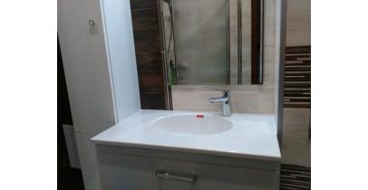 Плот за баня с отлята мивка